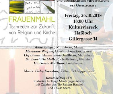 Plakat Frauenmahl 2018