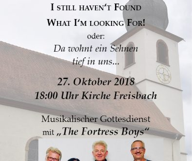 Plakat Musikalischer Godi The Fortress Boys 2018