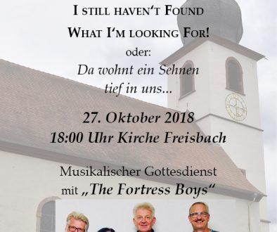 Plakat Musikalischer Godi The Fortress Boys 2018