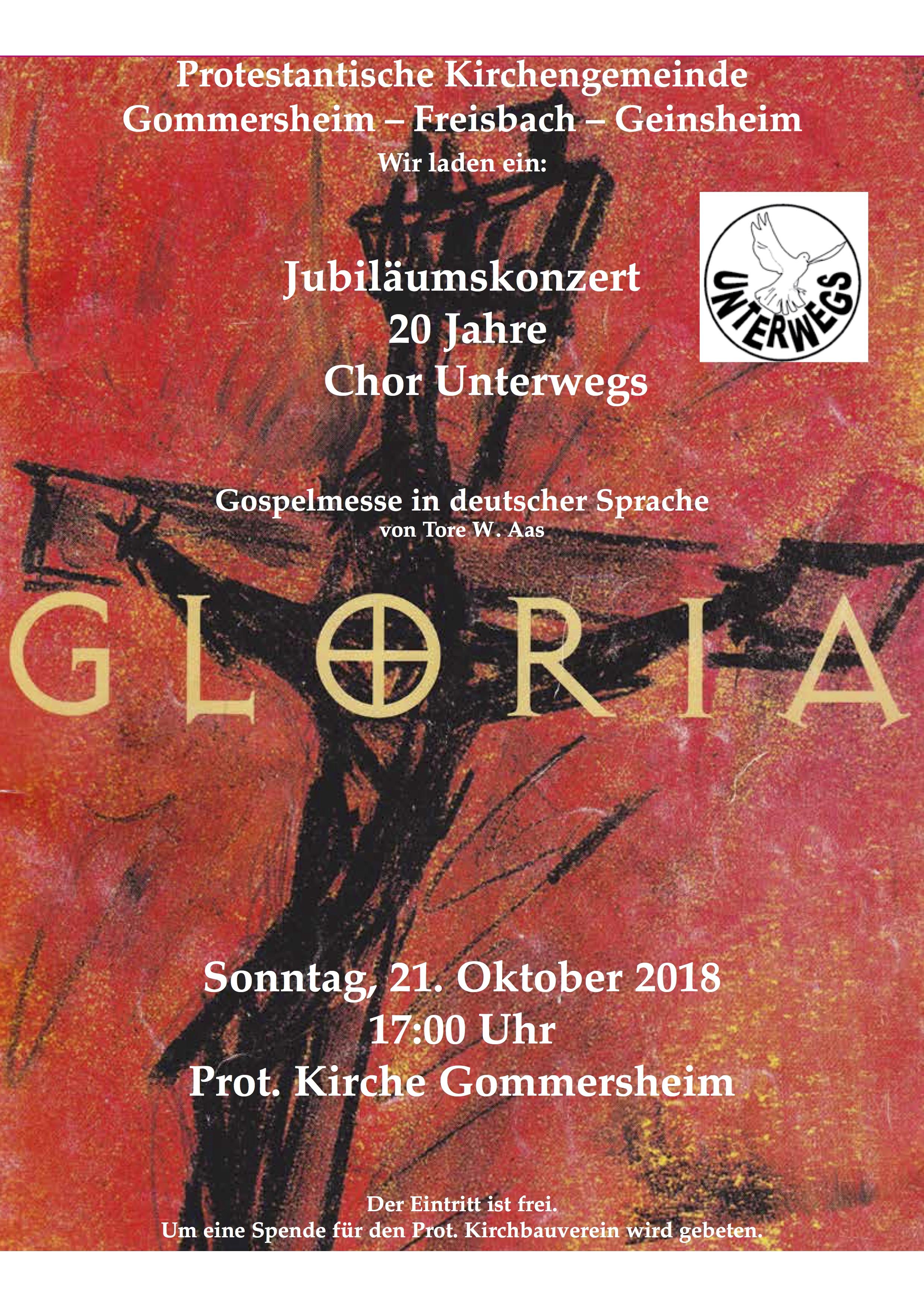 Plakat Chor unterwegs
