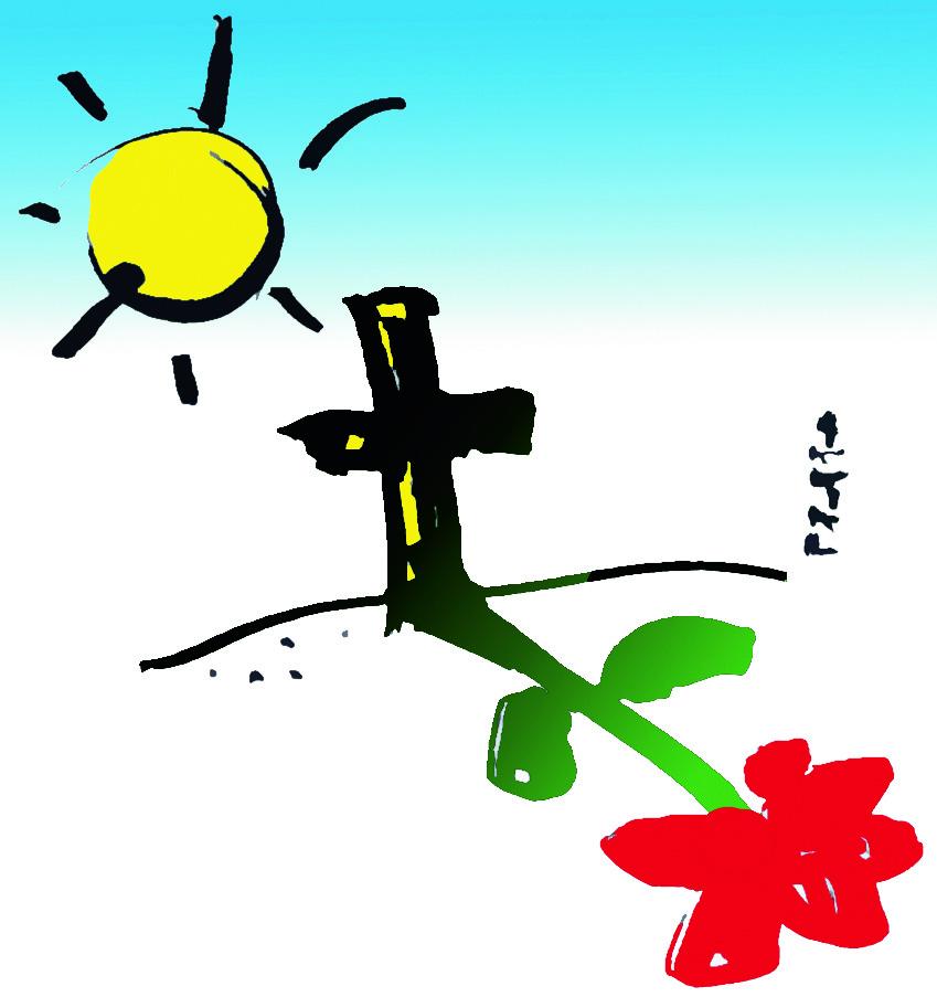 Sonne - Kreuz - Blume_CMYK